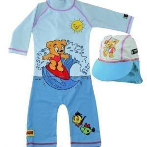 Swimpy UV-asu+hattu Bamse Turquoise