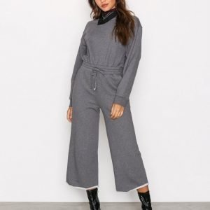 T By Alexander Wang Dry French L / S Jumpsuit Heather Grey