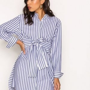 T By Alexander Wang L / S Tie Front Collared Dress Loose Fit Mekko Raidallinen