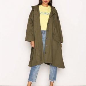T By Alexander Wang Oversized Coat Parkatakki Monivärinen