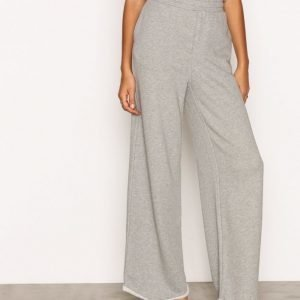 T By Alexander Wang Pull On Wide Leg Pant Housut Heather Grey