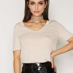 T By Alexander Wang Rayon Cropped Tee T-Paita Blush