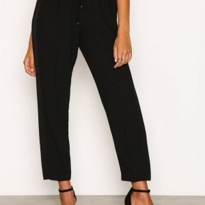 T By Alexander Wang Satin Back Crepe Pant Housut Black