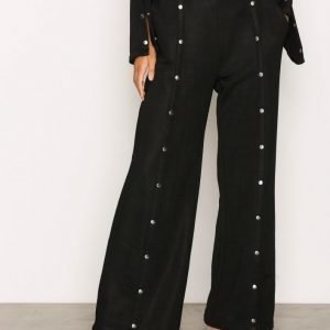 T By Alexander Wang Sleek French Wide Pants Housut Black