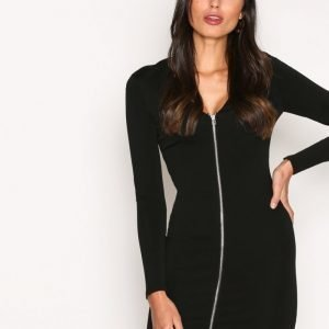 T By Alexander Wang Stretch Faille Ponte L / S Dress Kotelomekko Black