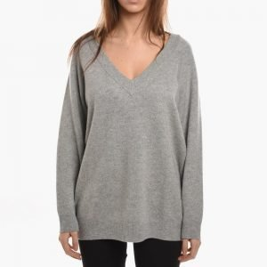 T by Alexander Wang Cashwool Knitted Deep V-neck