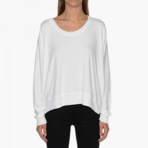 T by Alexander Wang Enzyme Washed French Drapey Sweatshirt