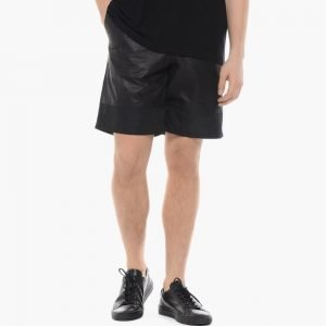 T by Alexander Wang Leather Nylon Combo Shorts