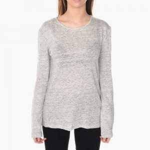 T by Alexander Wang Linen Long Sleeve Jersey