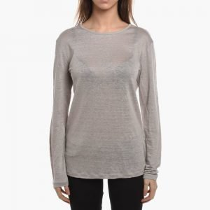 T by Alexander Wang Linen Silk Long Sleeve Jersey
