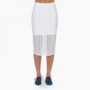 T by Alexander Wang Stretch Cotton Fitted Skirt