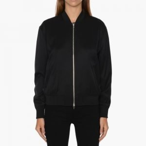 T by Alexander Wang Stretch Silk Twill Bomber