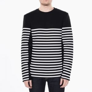 T by Alexander Wang Striped Gel Print Longsleeve Tee