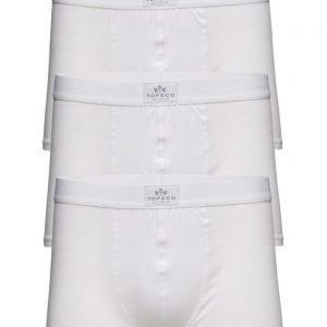 TOPECO Mens 3-Pack Boxer. Solid. White bokserit