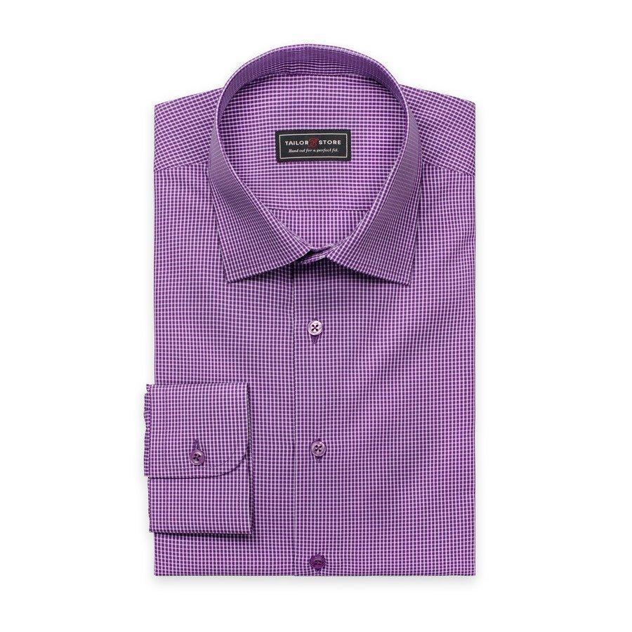 Tailor Store Business Classic Paita Violetti / Valkoruudullinen