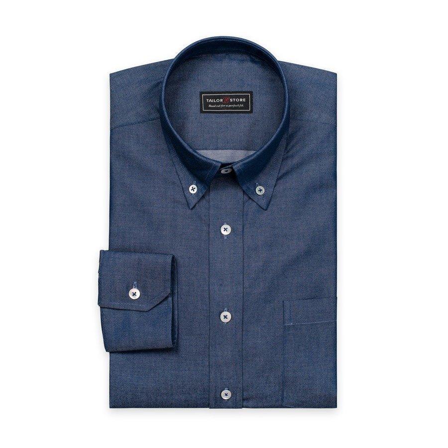 Tailor Store Button Down Paita Tummansininen