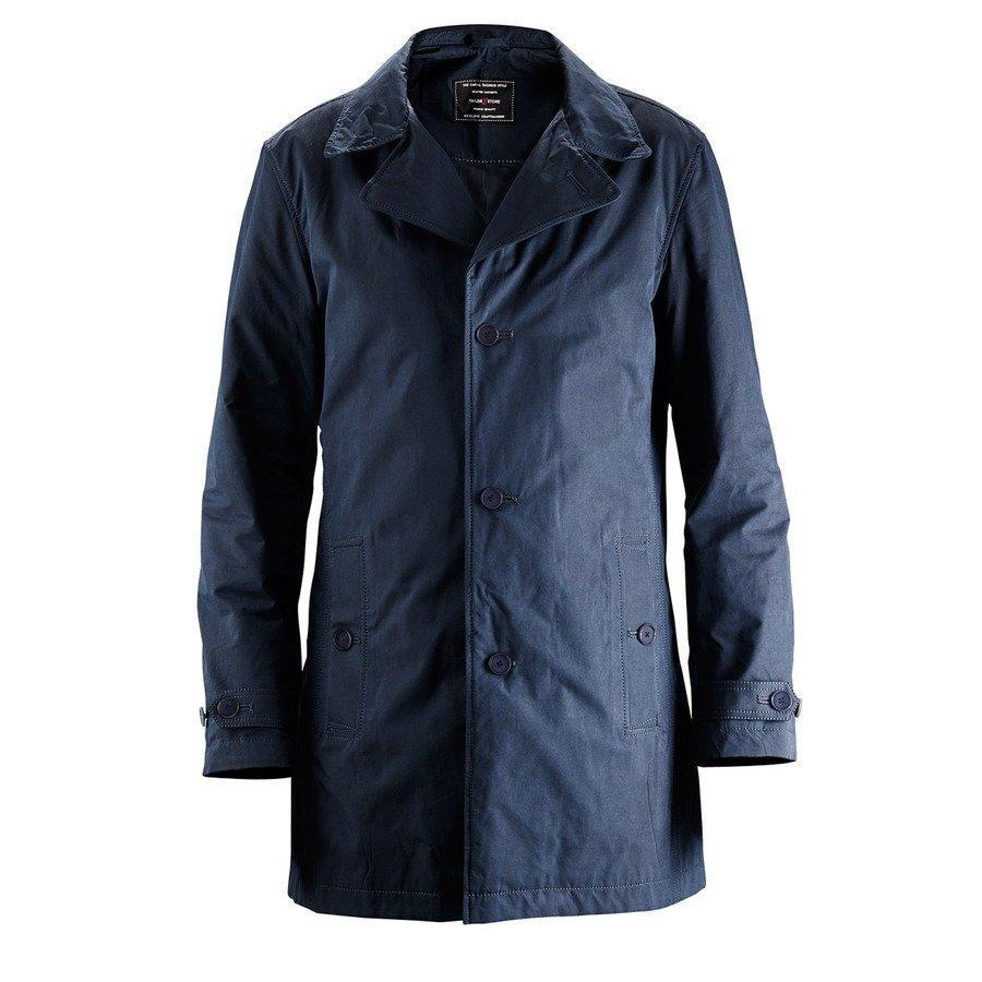 Tailor Store Casual Car Coat Mittatilaustyönä Regular Fit Laivastonsininen