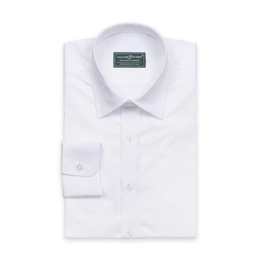 Tailor Store Ekologinen Businesspaita Valkoisesta Palttinakankaasta