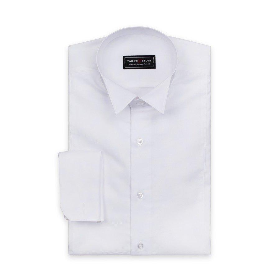 Tailor Store Frakkipaita Jossa Wing Kaulus Valkoinen