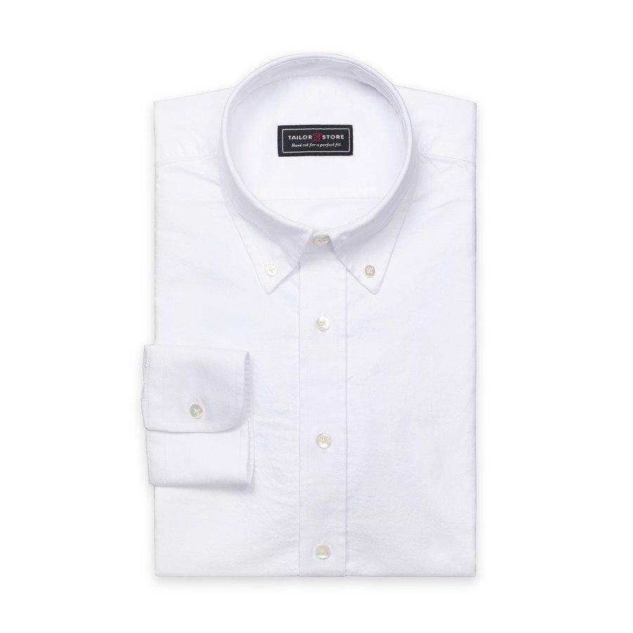 Tailor Store Oxford Paita Jossa Button Down Classic Kaulus Valkoinen