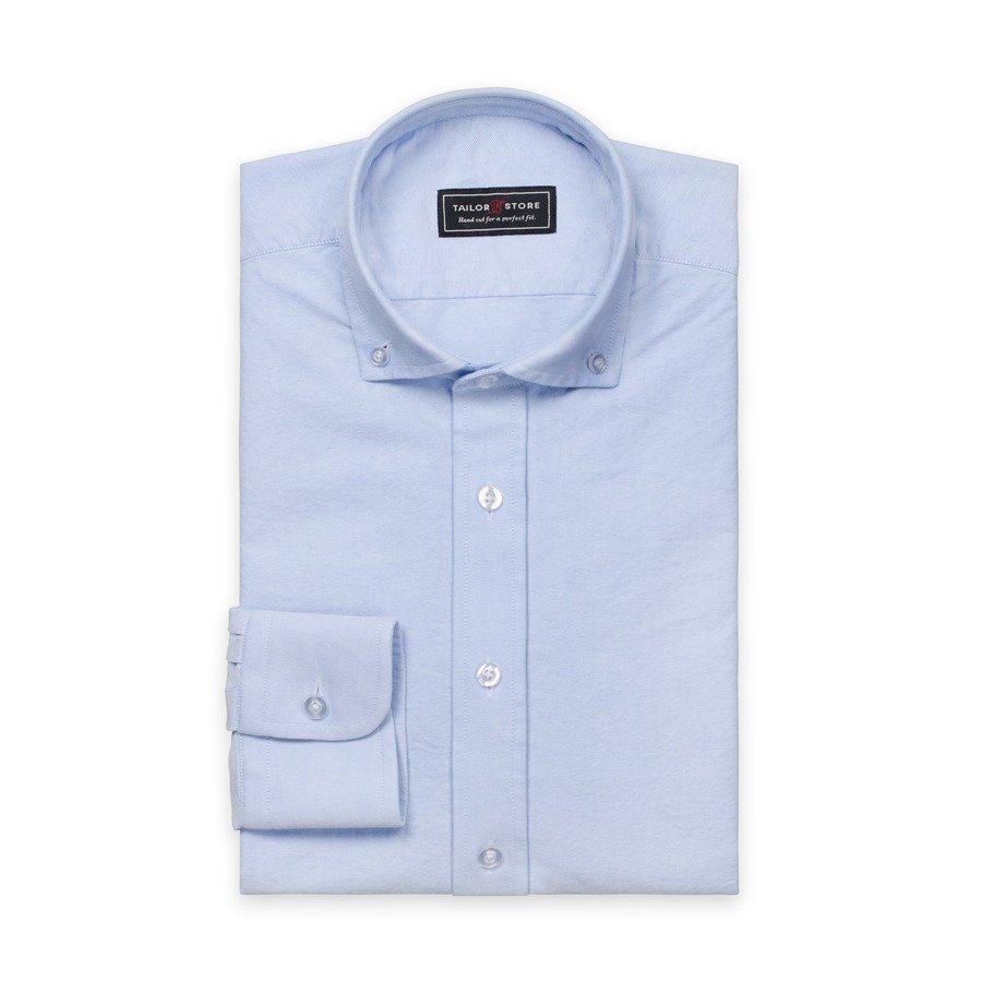 Tailor Store Oxford Paita Jossa Button Down Kaulus Vaaleansininen
