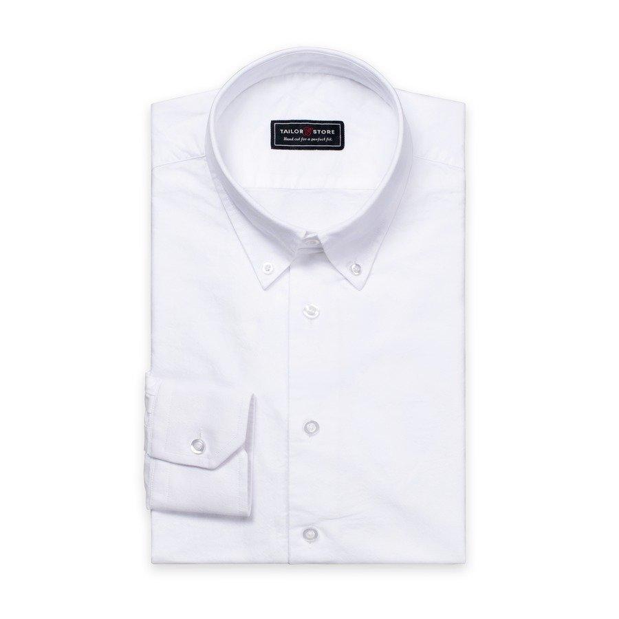 Tailor Store Oxford Paita Jossa Button Down Kaulus Valkoinen