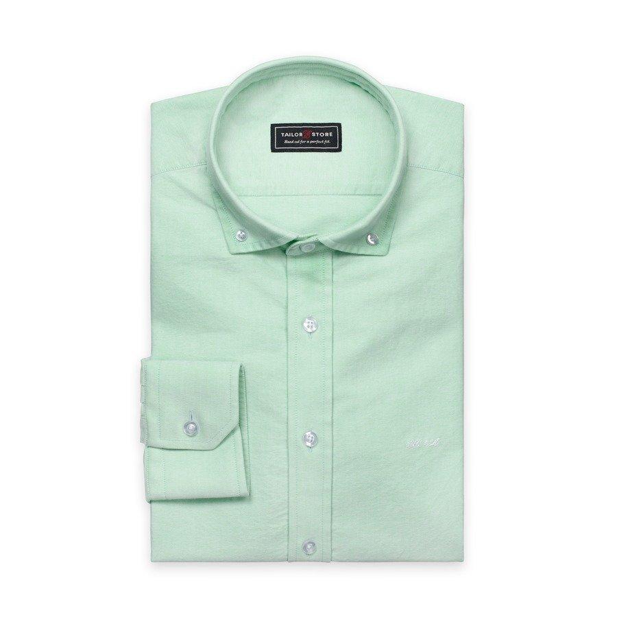 Tailor Store Oxford Paita Jossa Button Down Kaulus Vihreä