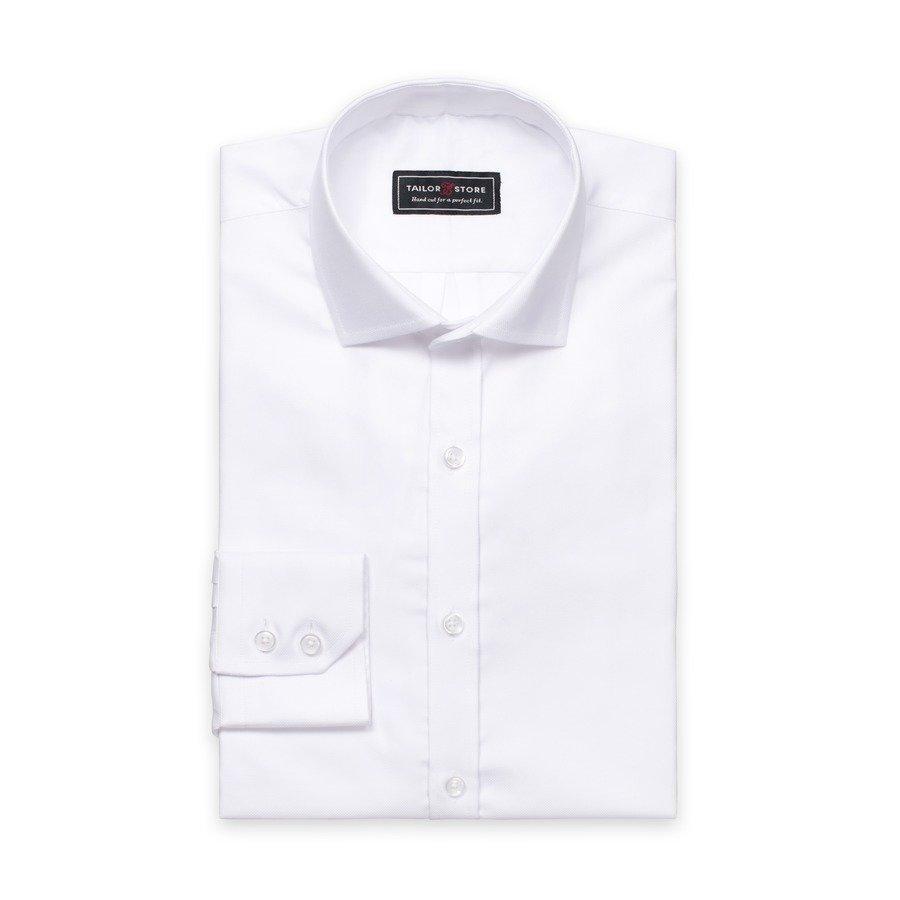 Tailor Store Oxford Paita Jossa Cut Away Kaulus Valkoinen