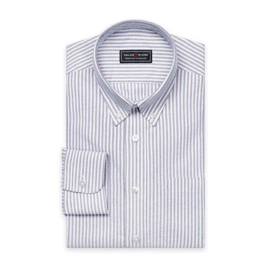 Tailor Store Oxford Paita Valkoinen / Mustaraidallinen