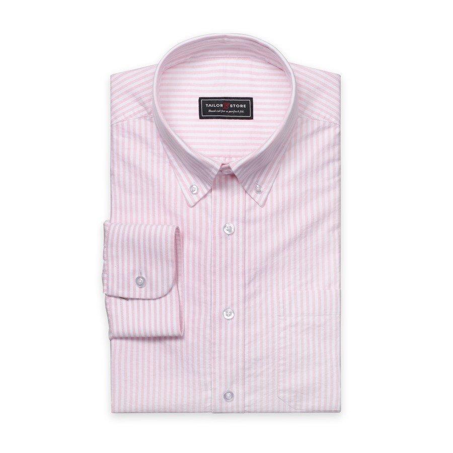 Tailor Store Oxford Paita Valkoinen / Vaaleanpunainen