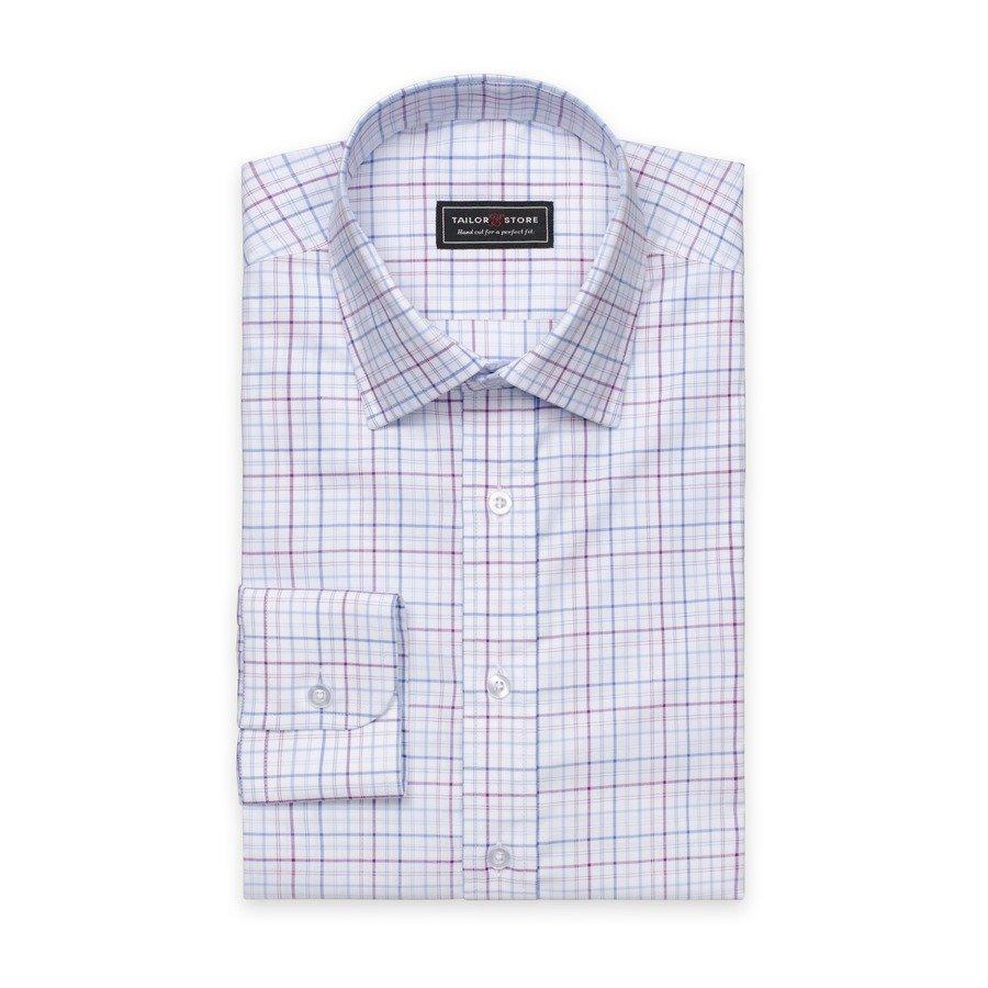 Tailor Store Oxford Paita Violetti / Valko / Siniruudullinen