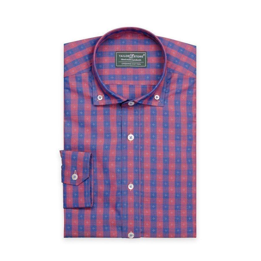 Tailor Store Paita Ekopuuvillasta Sininen / Punaruudullinen