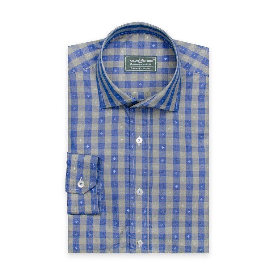 Tailor Store Paita Ekopuuvillasta Sininen / Vihreäruudullinen