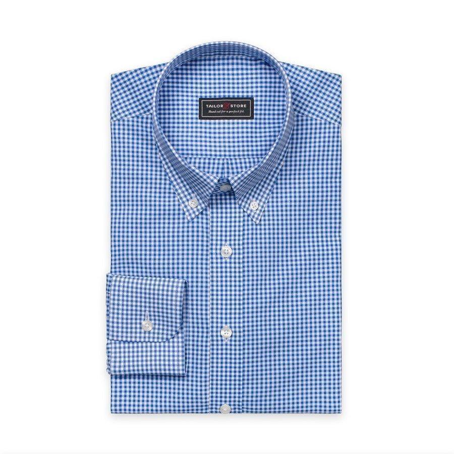 Tailor Store Paita Jossa Button Down Classic Kaulus Valkoinen / Siniruudullinen