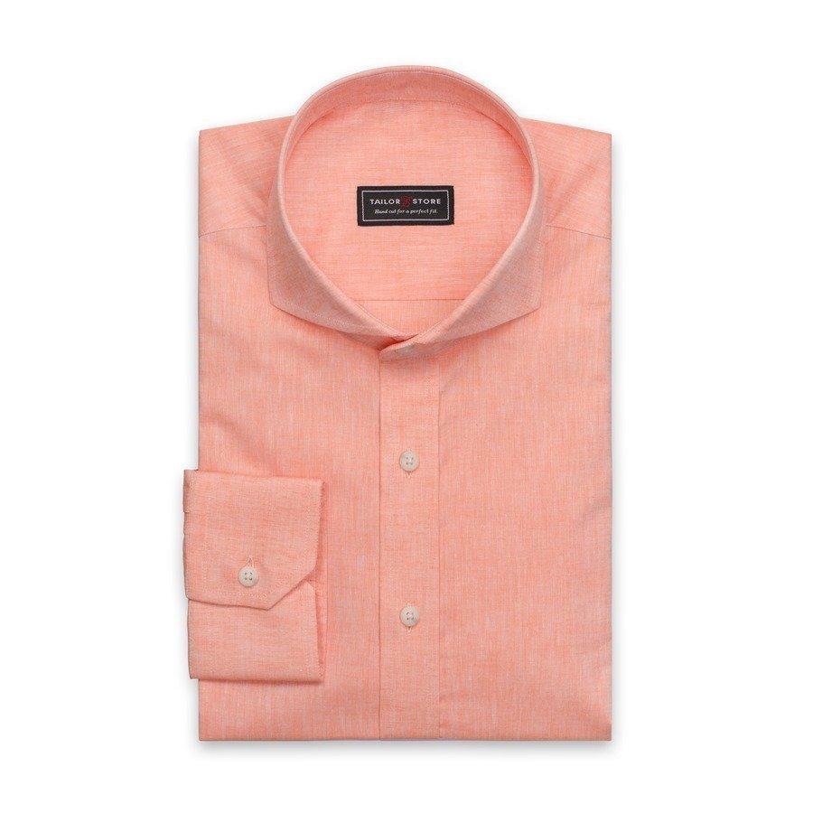 Tailor Store Paita Puuvillasta / Pellavasta Oranssi