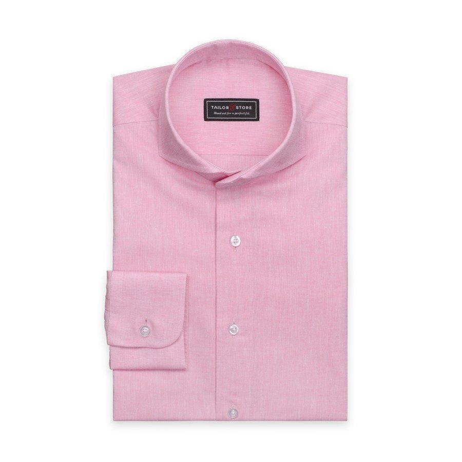 Tailor Store Paita Puuvillasta / Pellavasta Vaaleanpunainen