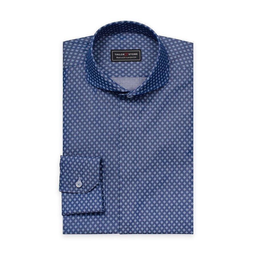 Tailor Store Paita Sininen / Valkokuviollinen