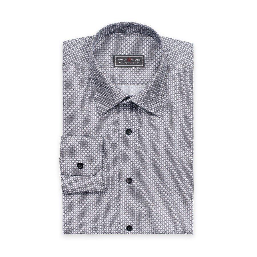 Tailor Store Paita Trendikäs Pienikuviollinen Musta / Valkoinen