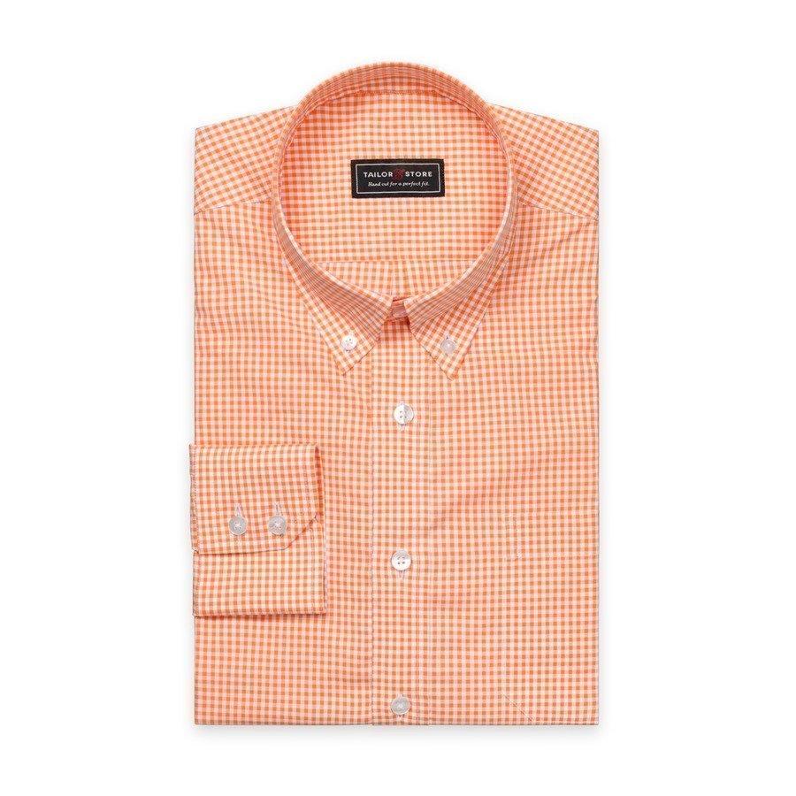 Tailor Store Paita Valko / Oranssiruudullinen