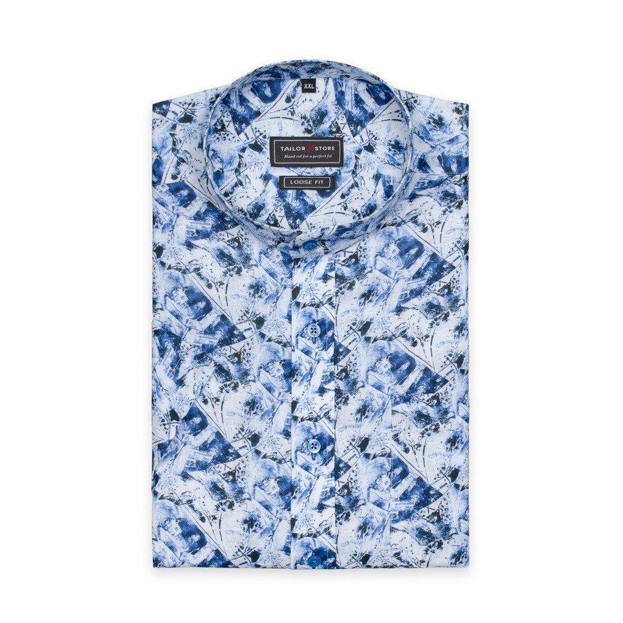 Tailor Store Pellavapaita Sininen / Valkokuviollinen