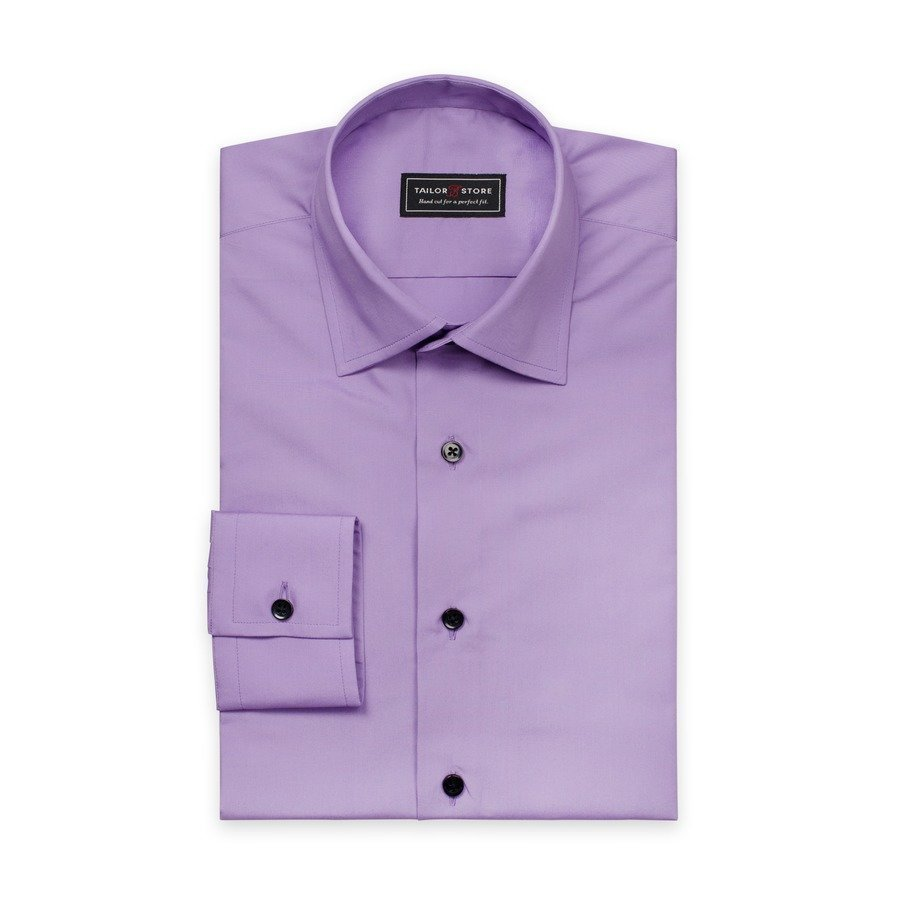 Tailor Store Popliinipaita Jossa Business Kaulus Violetti