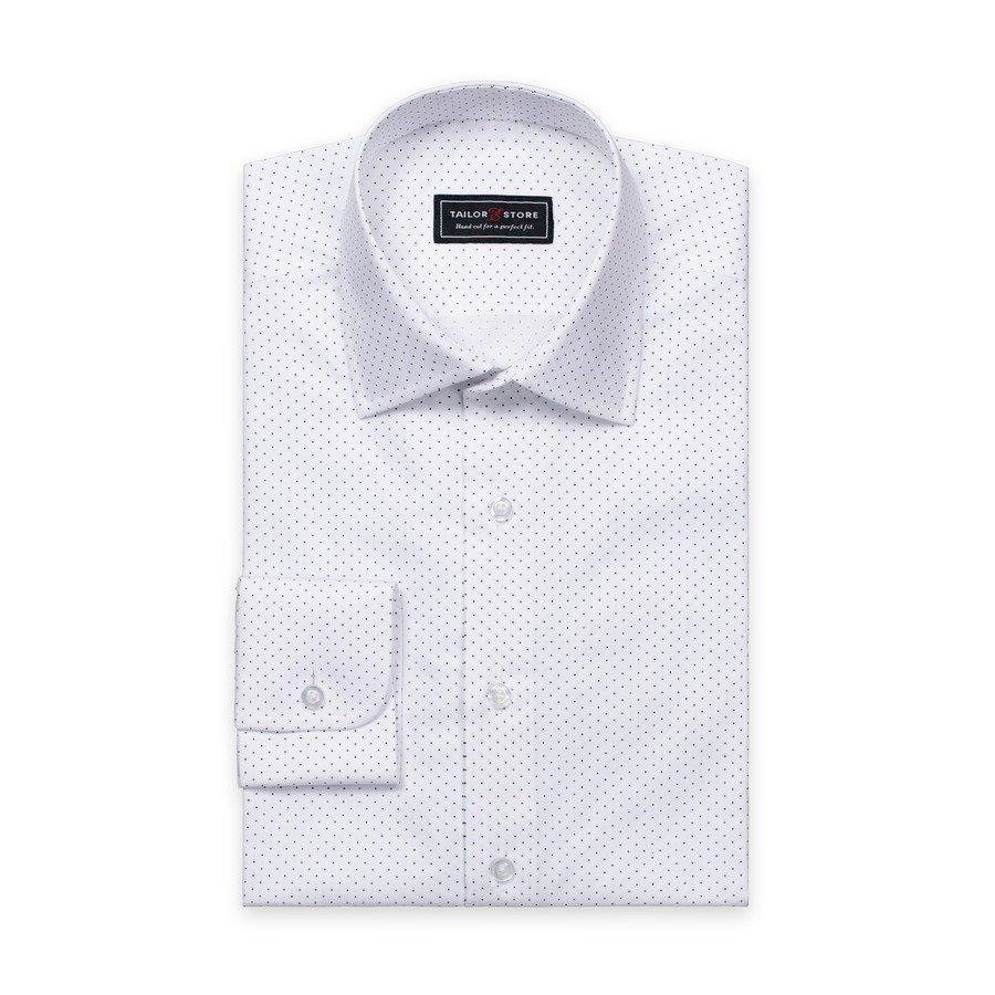 Tailor Store Popliinipaita Valkoinen / Tummansinipilkullinen