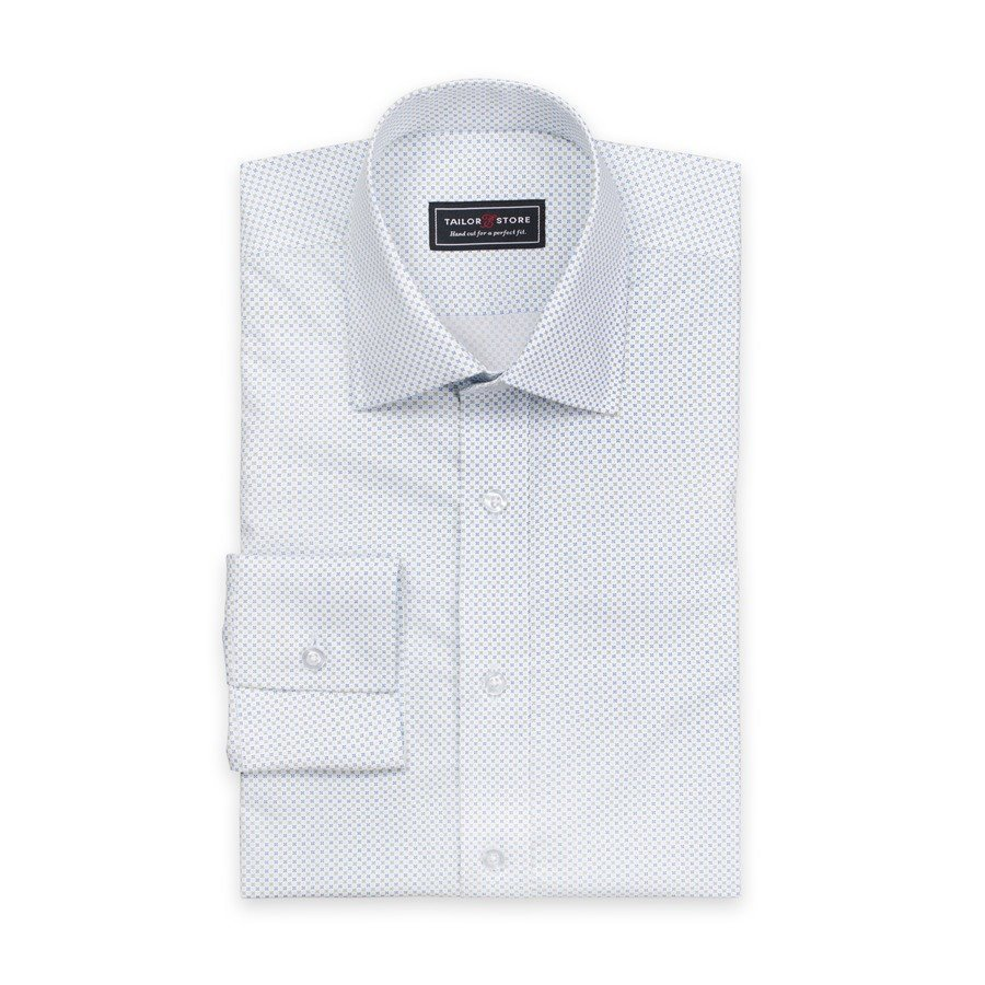 Tailor Store Popliinipaita Valkoinen / Vihreäkuviollinen
