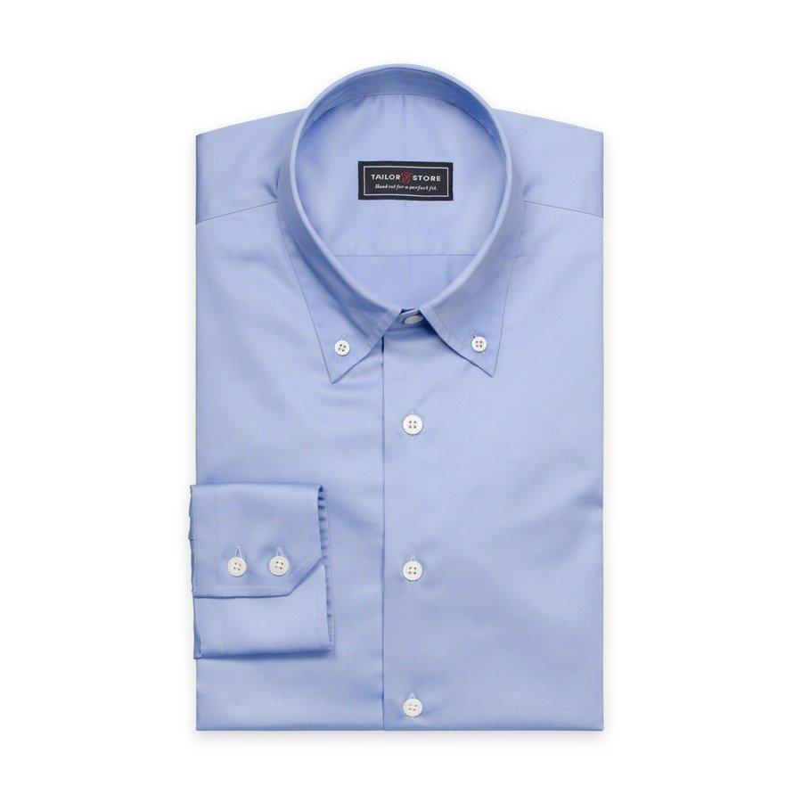 Tailor Store Puuvillasatiinipaita Sininen