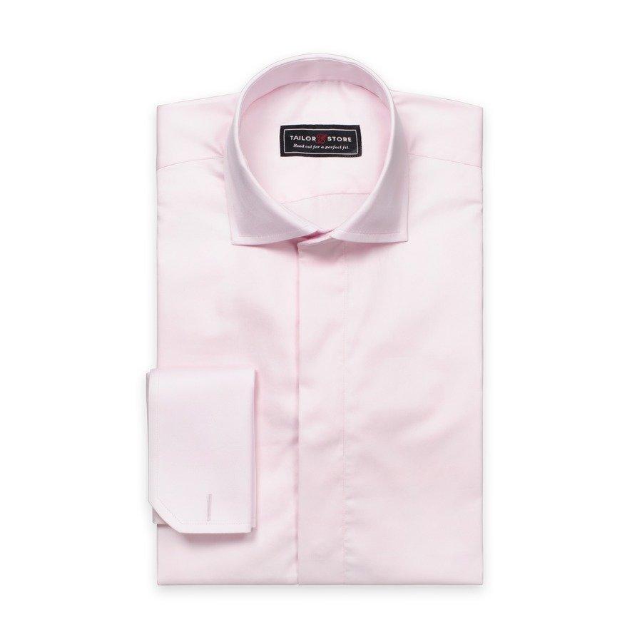 Tailor Store Puuvillasatiinipaita Vaaleanpunainen