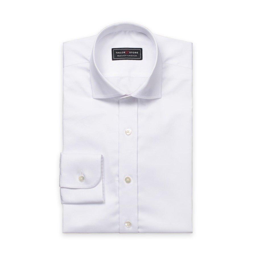 Tailor Store Puuvillasatiinipaita Valkoinen