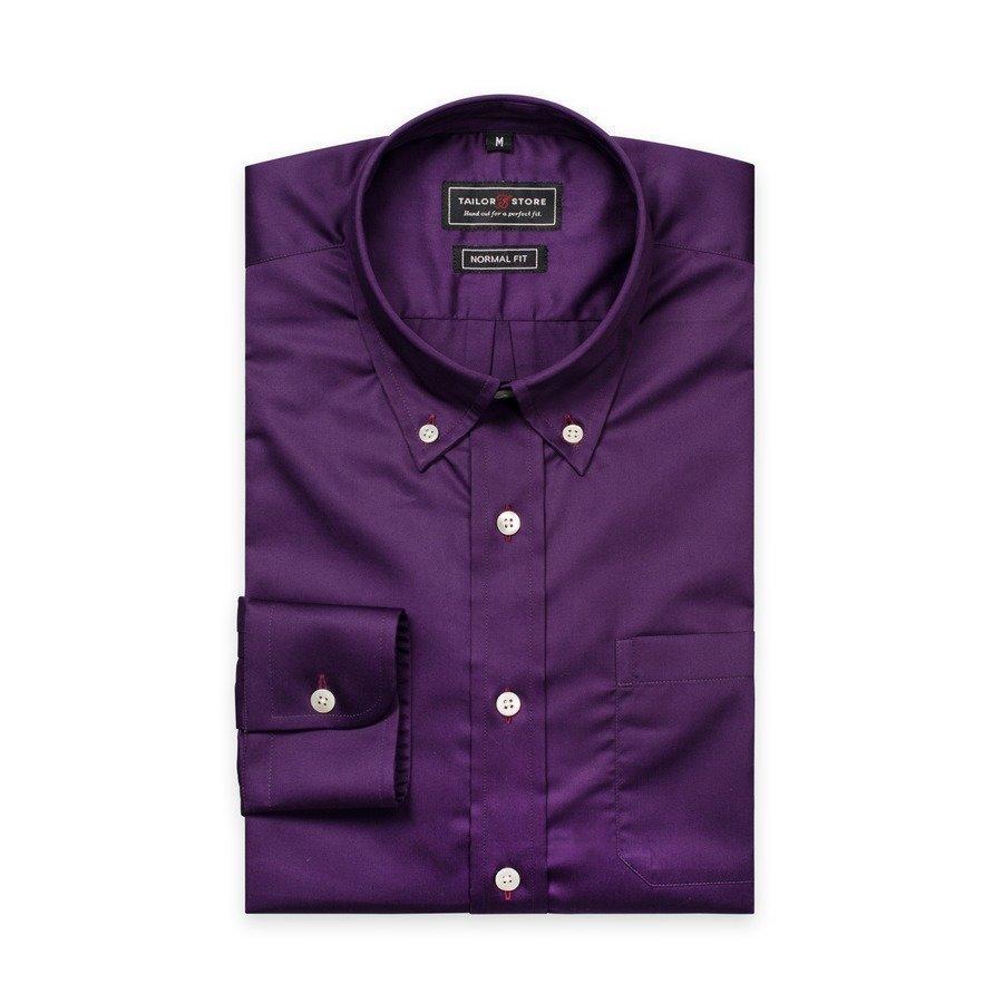 Tailor Store Satiinipuuvillapaita Tummanvioletti