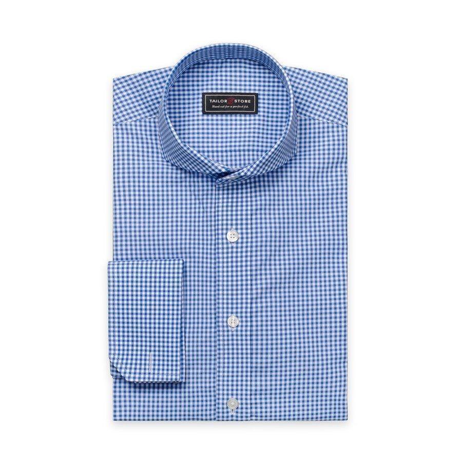 Tailor Store Slim Fit Paita Popliinista Valkoinen / Siniruudullinen
