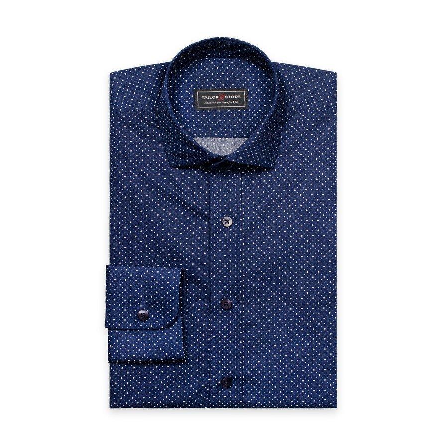 Tailor Store Slim Fit Paita Tummansininen / Valkopilkullinen
