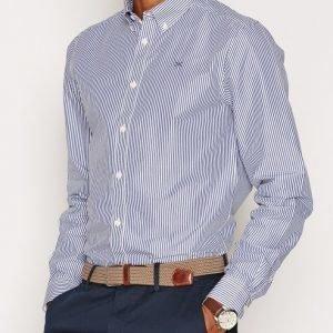 Tailored By Solid Belfast Stripe Kauluspaita Insignia Blue